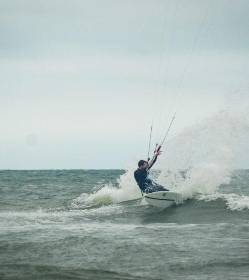 Luke McGillewie on the Appleflap Noseless Northsea surfing