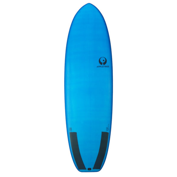 deck of blue Appletree C.O.P. allround surf and kiteboard