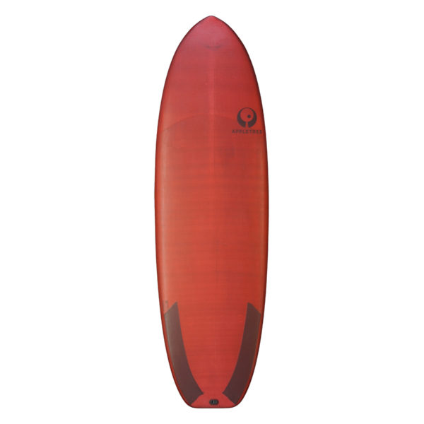 deck of red Appletree C.O.P. allround surf and kiteboard