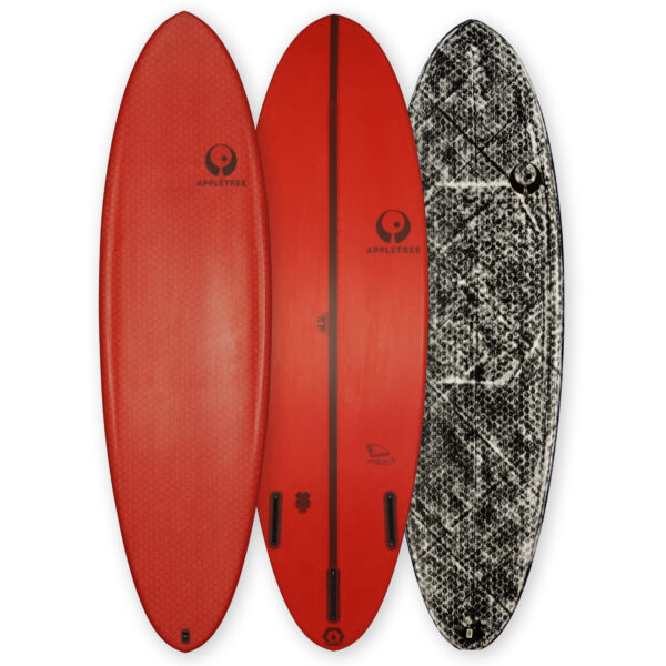 Appleflap Noseless directional wave kiteboard for high wind and big waves
