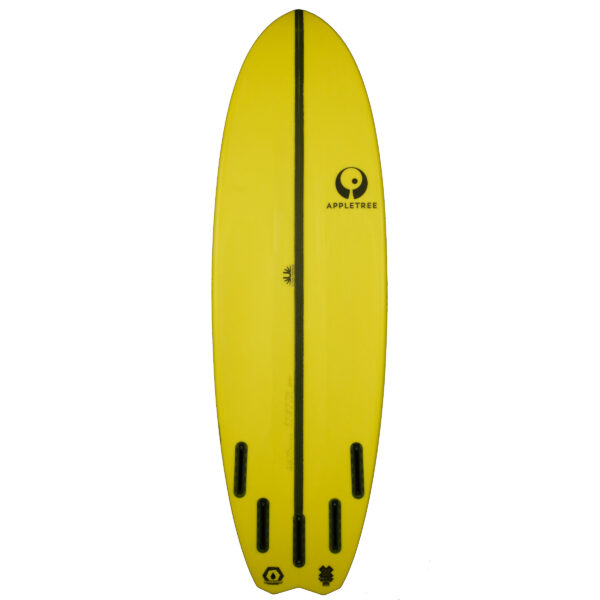 Appletree kiteboard, yellow Malus Domestica, bottom