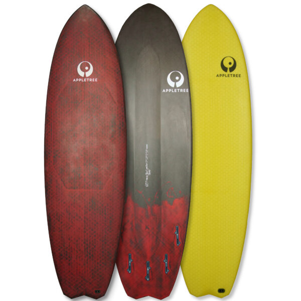 Appletree kiteboard, Malus Domestica, Hex-skin glass and carbon