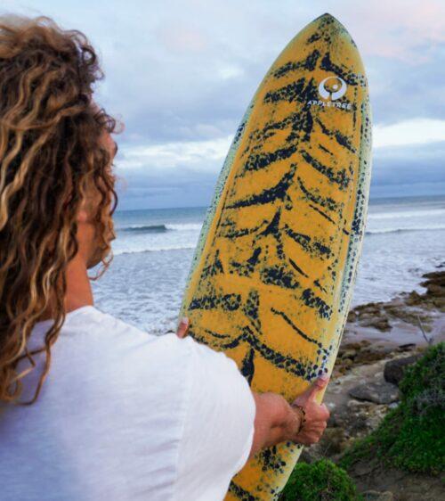 tiger print custom art kite surfboard