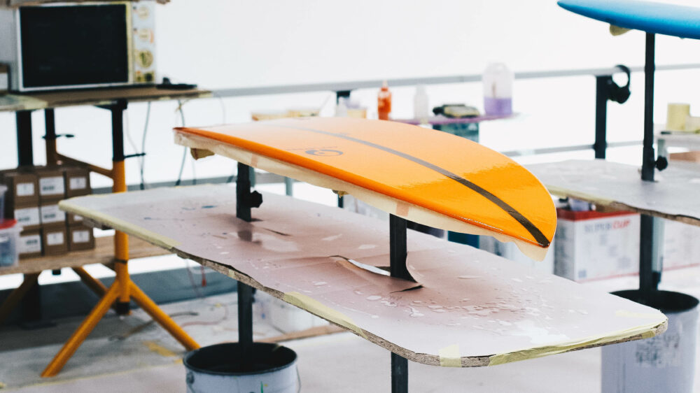 Appletree Surfboards, a clean shaping bay