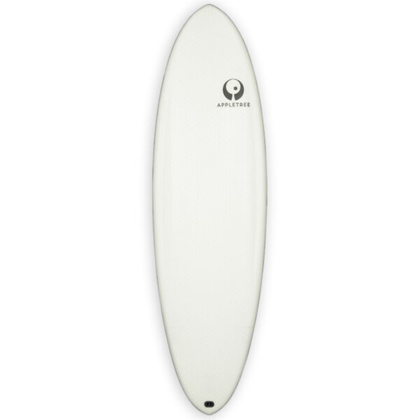 Appletree White Line kiteboard Appleflap Noseless deck