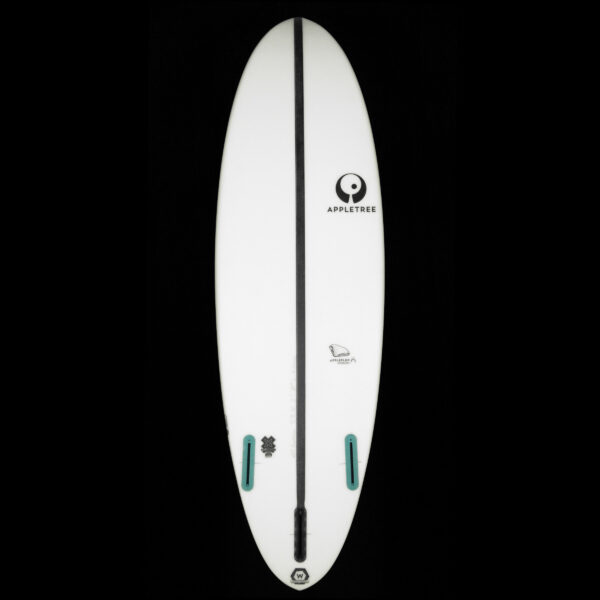 If high wind and big waves is your playground, than the Appleflap Noseless kiteboard is your perfect partner!