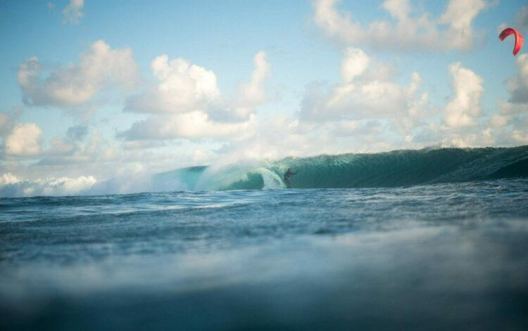 wave kiteboard in Mauritius
