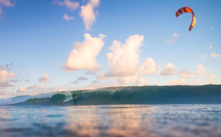 Wave kitesurfing in Mauritius, wave kite spot
