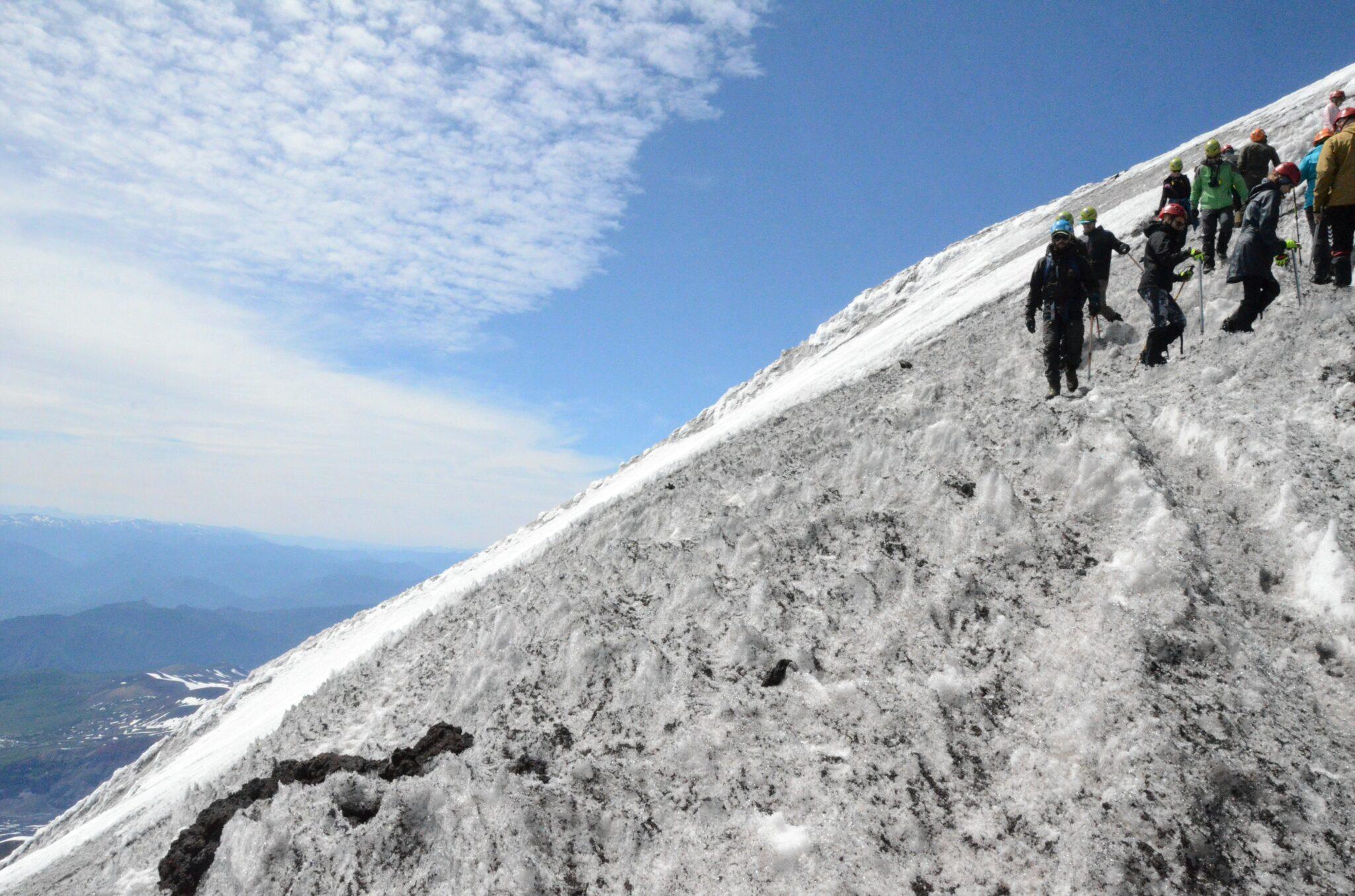 hiking the Villarica volcano