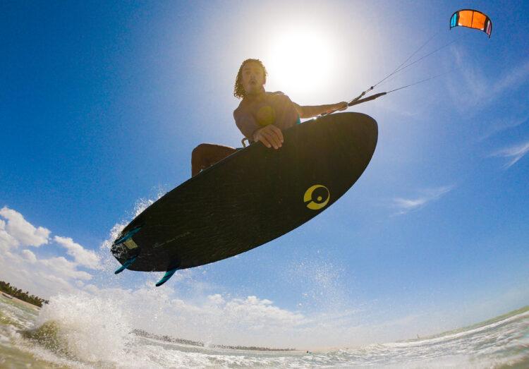 wave kite spot in Brazil on a Appletree wave kiteboard