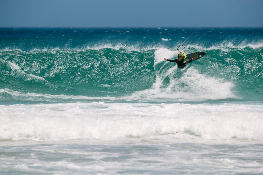 South Africa, strapless wave kiting